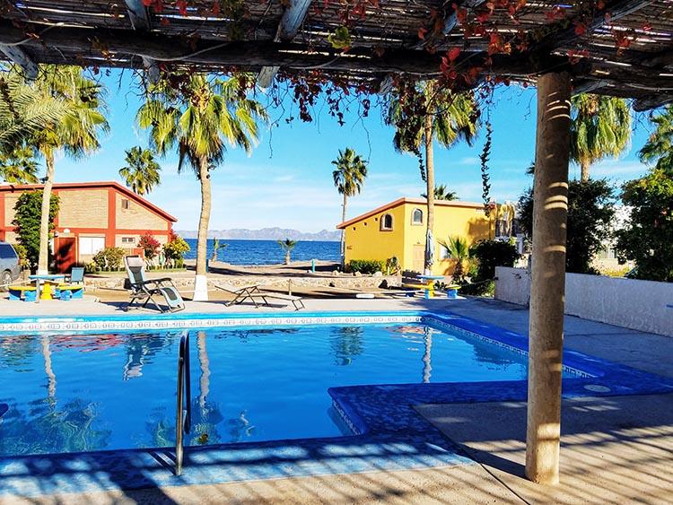 Pool at Loreto Shores Villas and RV Park - Photo by Juli Cooley