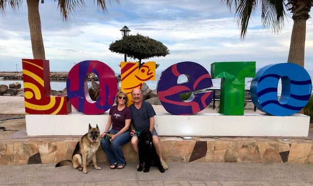 Fellow travelers Tom and Shawna on the Malecon in Loreto - Photo supplied by Tom Sullivan