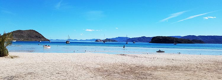 Another view of Santispac Beach. Photo by Juli Cooley