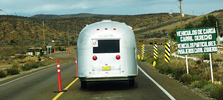 At this inspection point, for reasons unknown, the officers decided to thoroughly search Alison's tiny Airstream