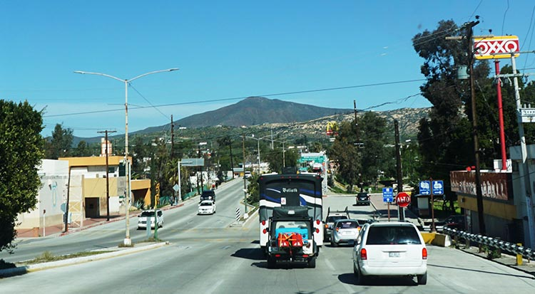 Once we got to Tecate there was plenty of traffic. That was definitely quite challenging driving for a caravan of RVs