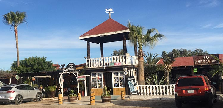 Here are the restaurant and gift shop at the Malarrimo RV Park in Guerrero Negro