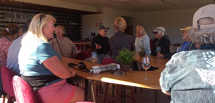 We all enjoyed the wine tasting at Domecq