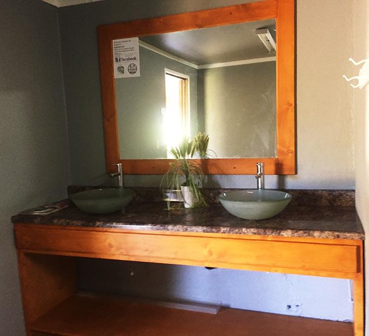 Rancho Sordo Mudo has decent, clean washrooms