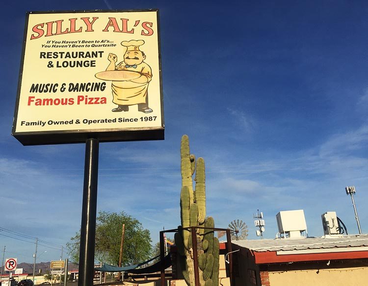 Silly Al's in Quartzsite is great for takeout and sit-down meals