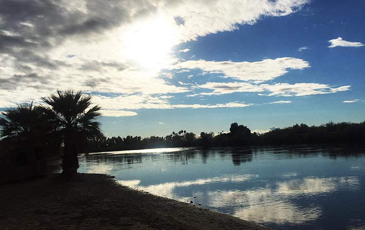 The Colorado River is the best feature of this RV park