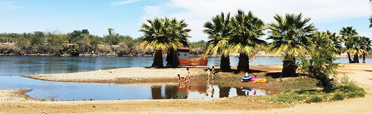 The Colorado River offers many recreational opportunities for kids inside this RV park