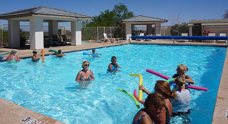 We enjoyed the water aerobics classes, which were offered three times a week