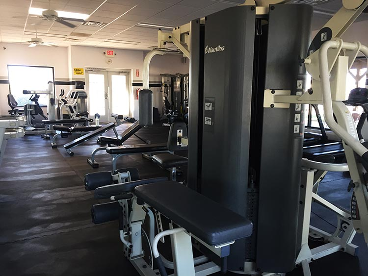 The gym at Rio Bend is the best we have seen at any RV resort