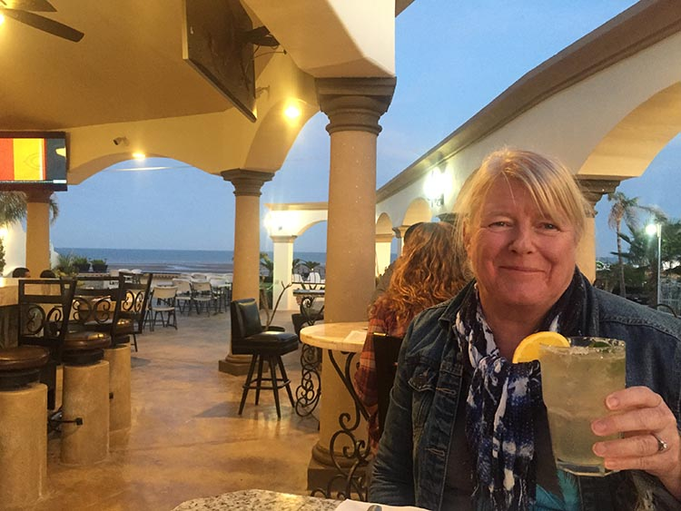Here I am enjoying the bar at Pete's Camp near Eldorado ranch
