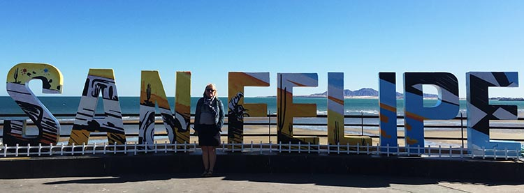 Here I am on the malecon in San Felipe