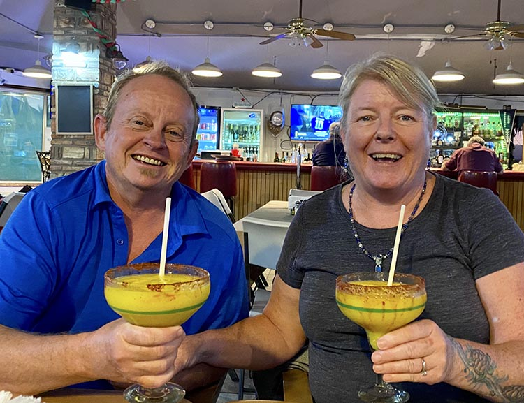 If you ever go to La Vaquita, we recommend the giant mango margaritas!