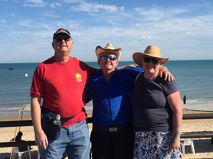 Here we are with Ron on the malecón, on the day after we got to San Felipe