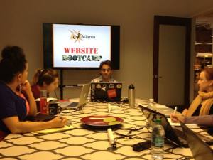 Teaching a group of artists how to build a website.