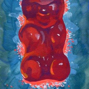 Red Gummy Number 02