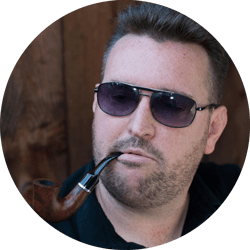 Joe with a pipe