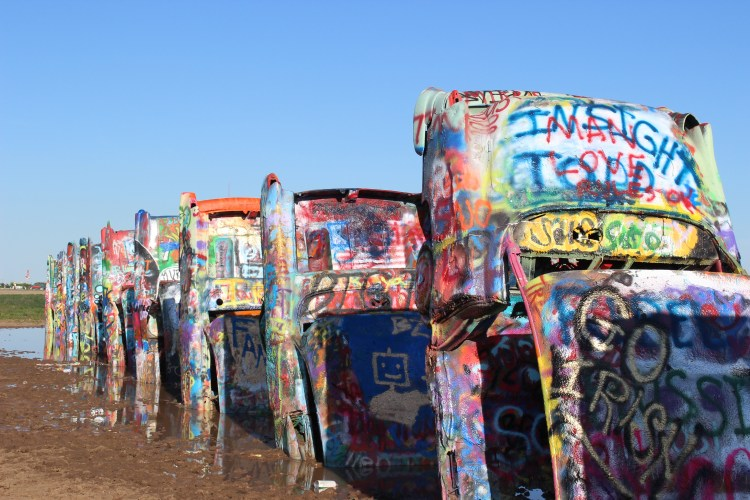 Cadillac Ranch on Route 66 in Amarillo, Texas