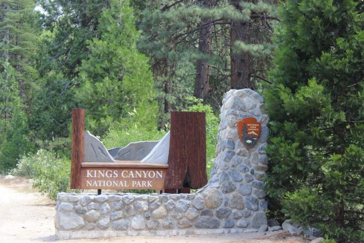 Kings Canyon, Park entrance.