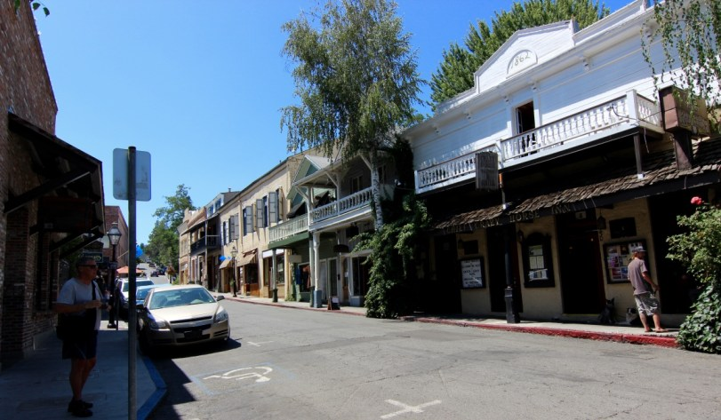 Nevada City, CA. Notice the dogs outside the bar waiting for their owners!
