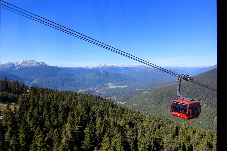 The second Gondola that goes from Whistler to Blackcomb