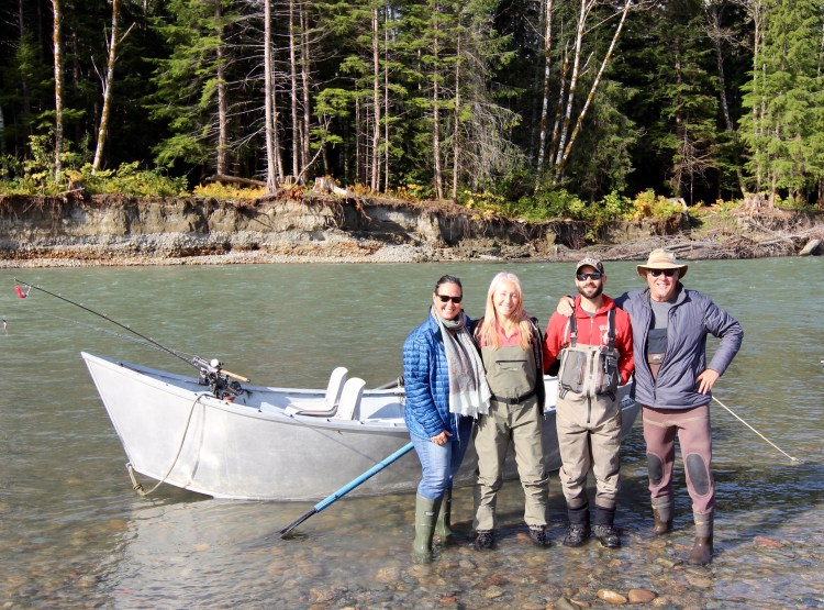 """The next day we did a """"drift"""" in a row boat down the Kitimat River."""