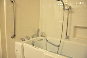 Finished Accessible Shower/Tub 1