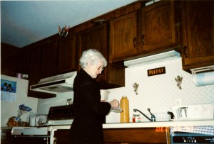 Mom in Warroad kitchen