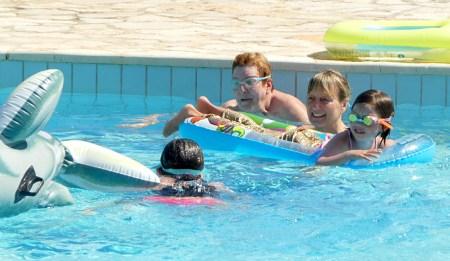 Trip - Fun in the pool.