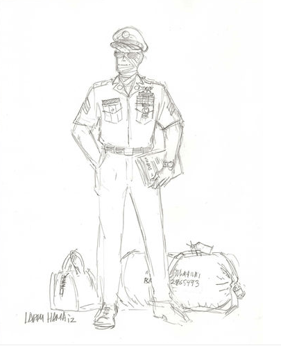 Snake Eyes Homecoming Sketch by Larry Hama