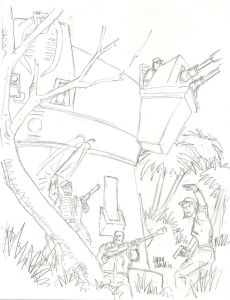G.I. Joe A Real American Hero 195 cover sketch by Larry Hama