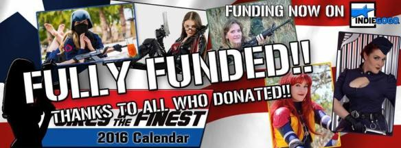 Girls of the Finest 2016 calendar funded