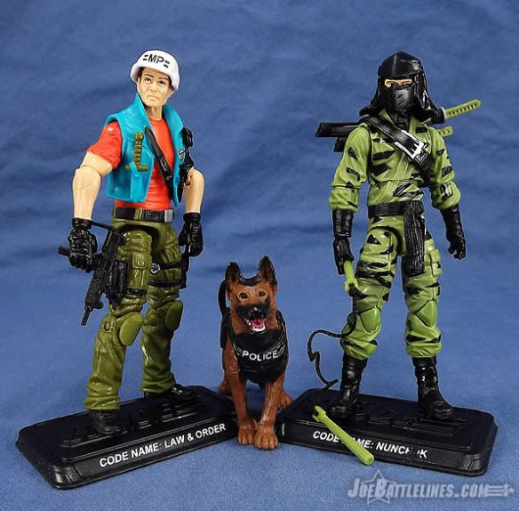 G.I. Joe FSS 4 Law & Order and Nunchuk