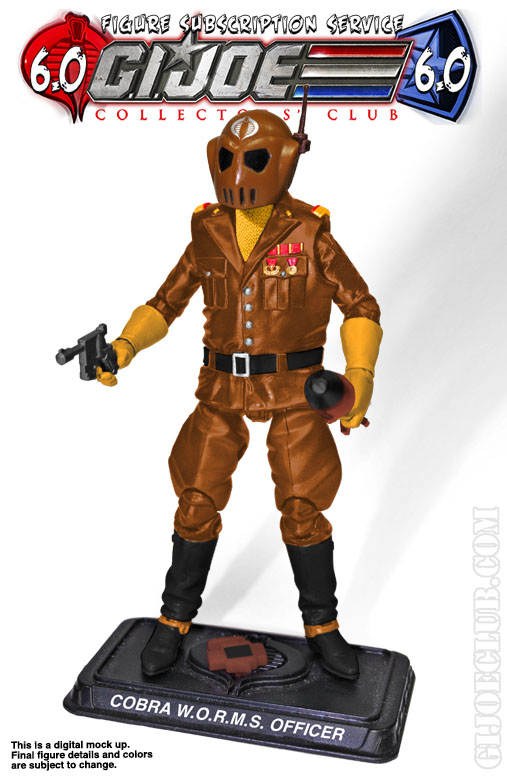 G.I. Joe FSS 6 Cobra WORMS Officer