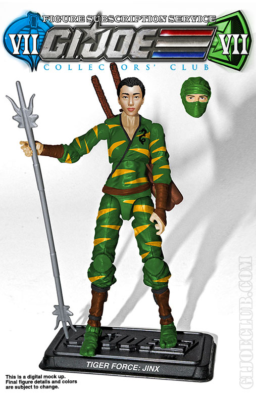 G.I. Joe Collector's Club FSS 7 Tiger Force Jinx