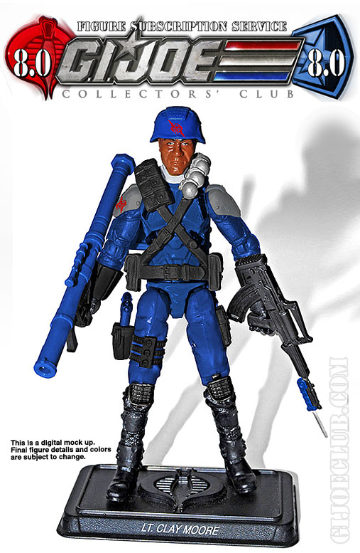 G.I. Joe Collector's Club FSS 8 Lt. Clay Moore