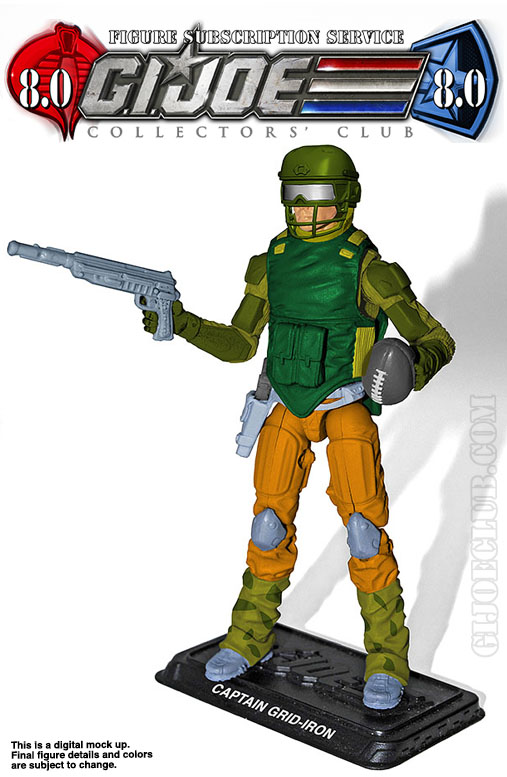 G.I. Joe Collector's Club FSS 8 Captain Grid-Iron