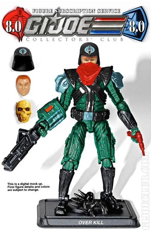 G.I. Joe Collector's Club FSS 8 Over Kill