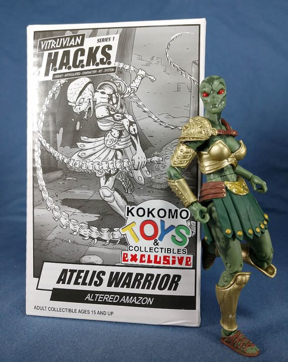 Kokomo Toys Vitruvian HACKS Atelis Warrior action figure