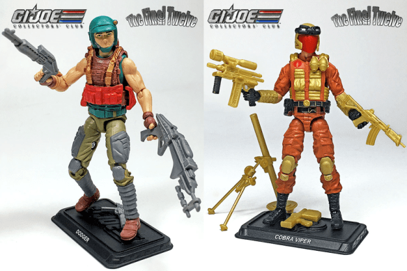 G.I. Joe Collector's Club Final Twelve Sonic Fighters Dodger and Viper