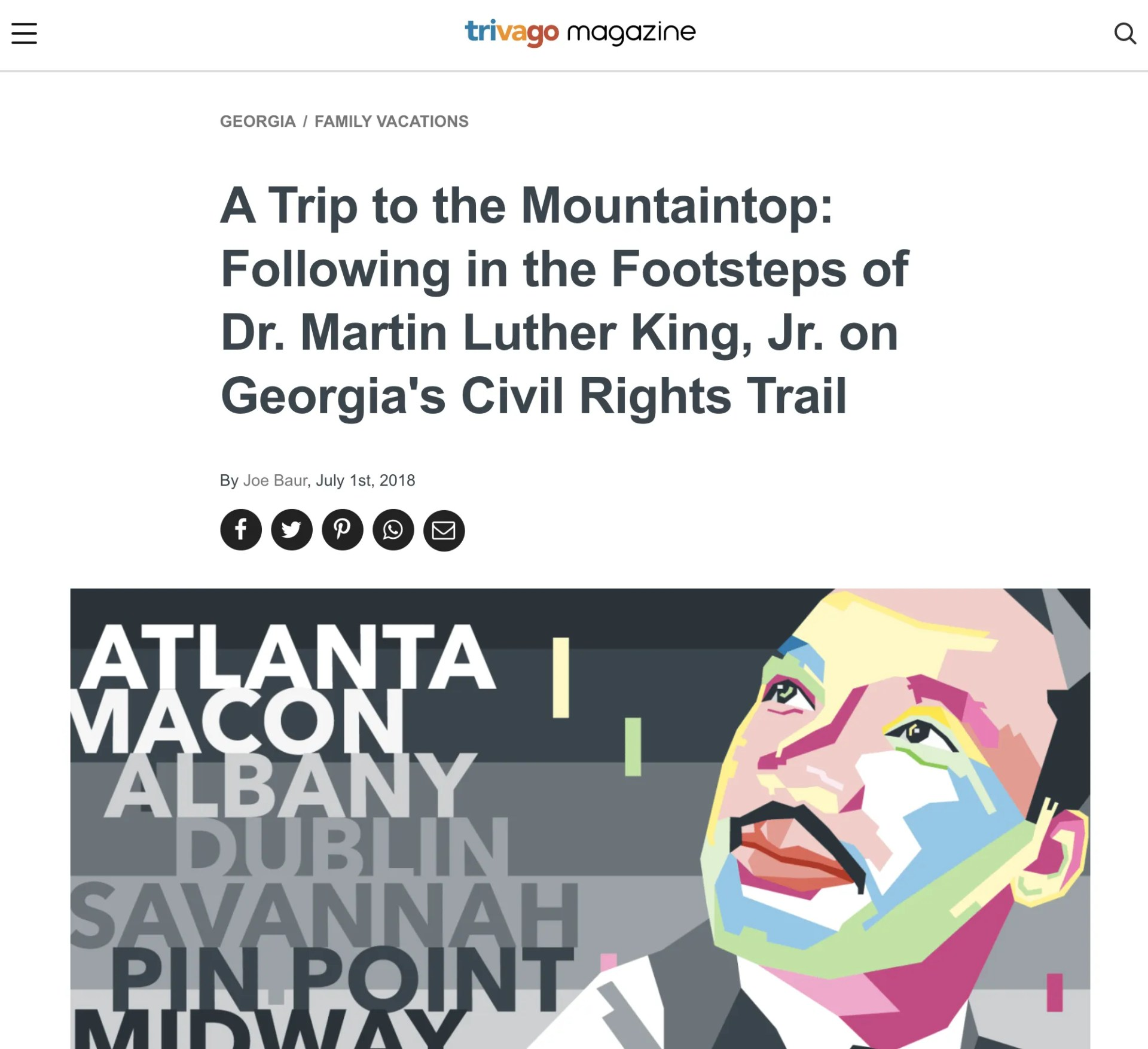 A Trip to the Mountaintop - Following in the Footsteps of Dr. Martin Luther King, Jr on Georgia's Civil Rights Trail - trivago Magazine
