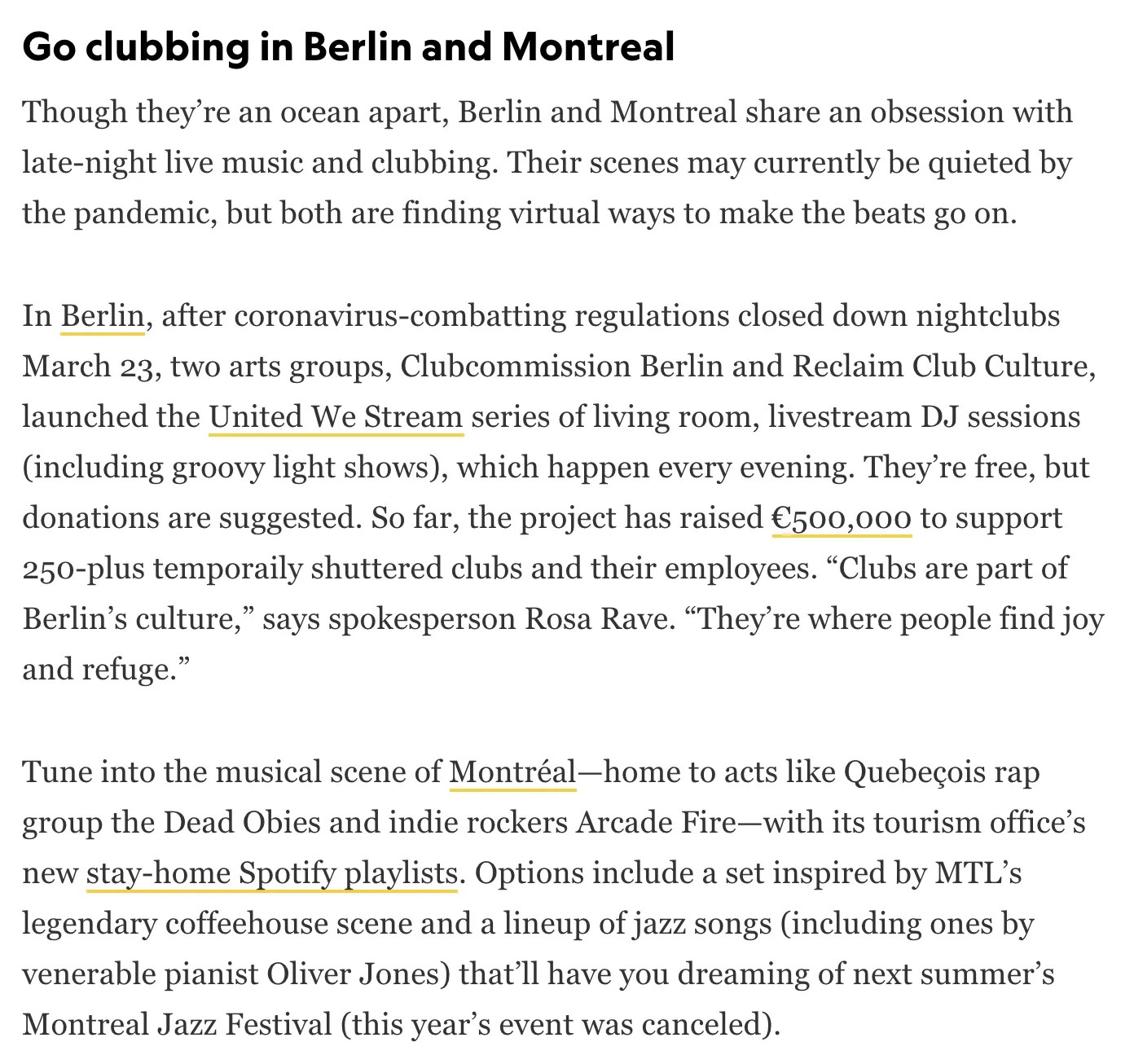 Go clubbing in Berlin and Montreal - National Geographic