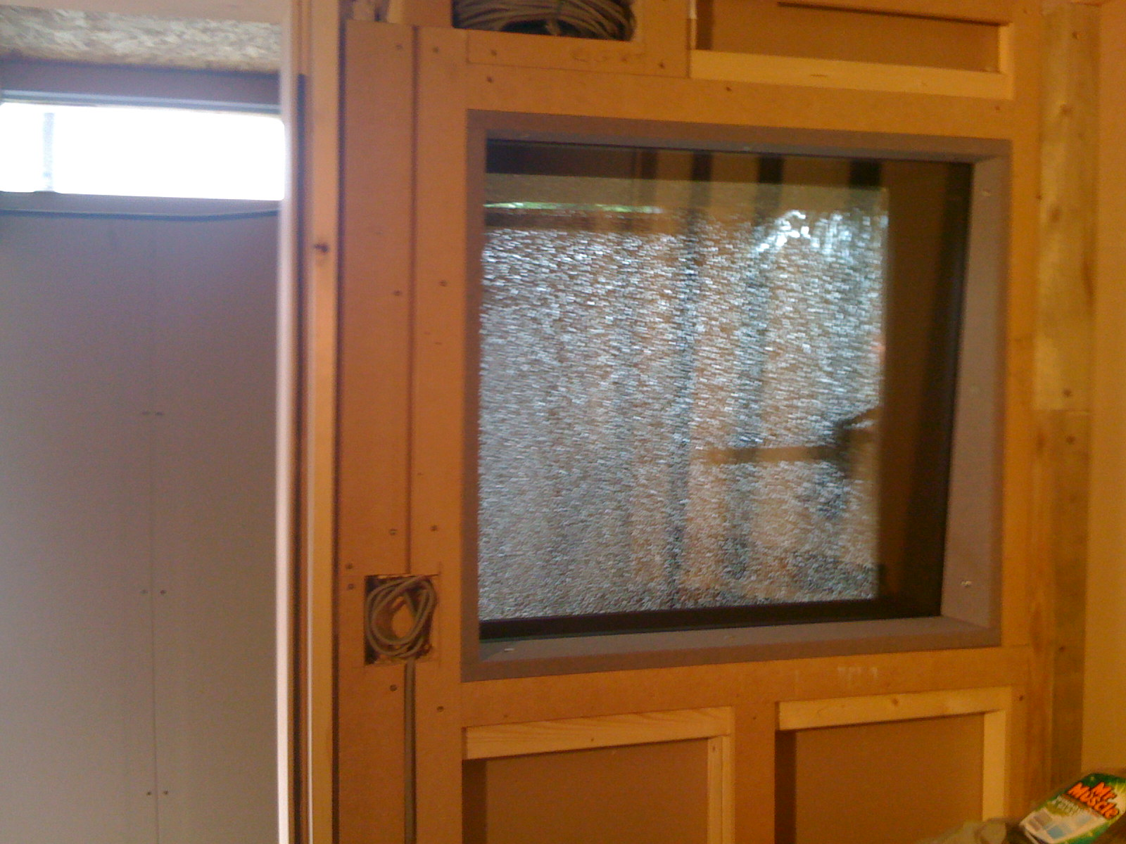 The double-glazed window pane has shattered and will need replacing.