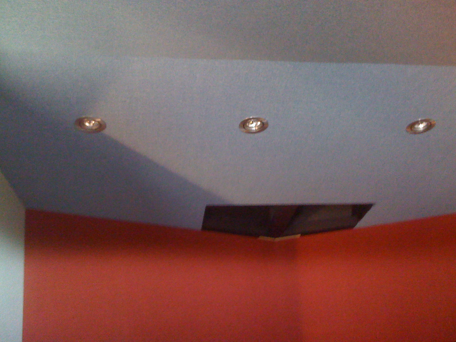 Control room light fittings - these will be directly over the engineer/work area.