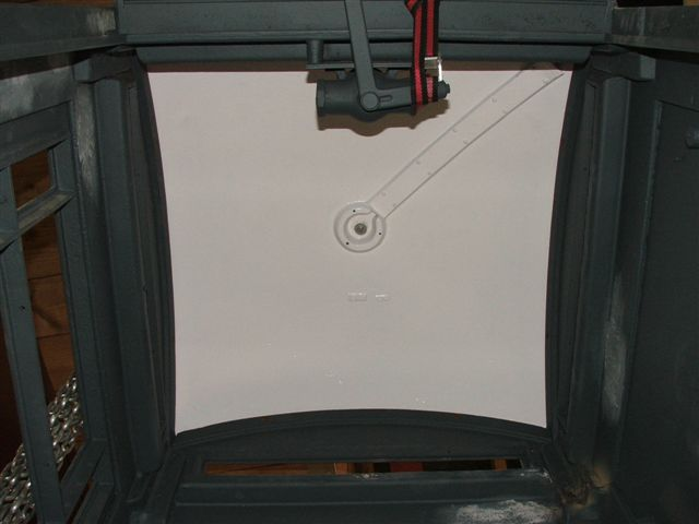 And here's the view from inside - the cable channel for the roof light.