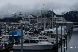 Seward Fishing Boats with Cruise Ship in the Background