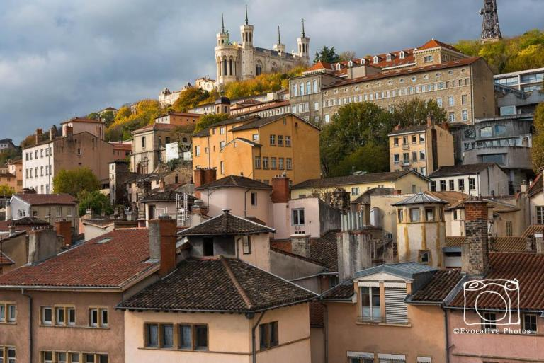 The Old City in Lyon, France