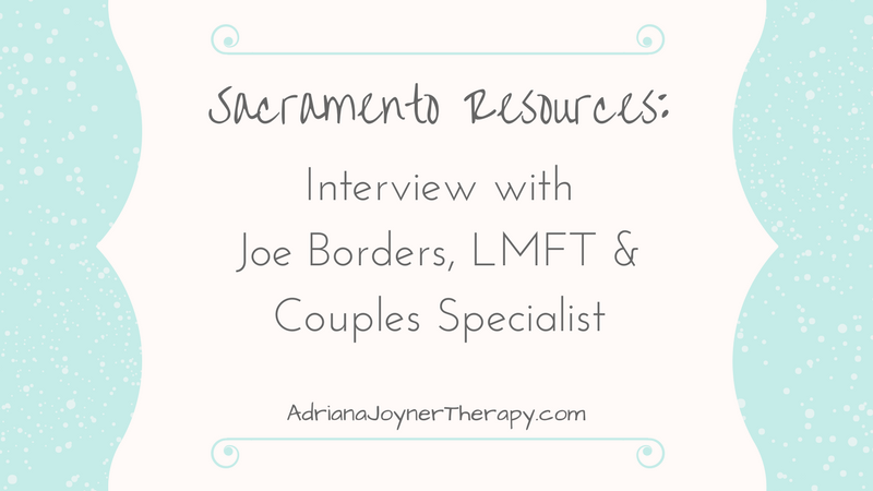 Interviewed By a Local Therapist