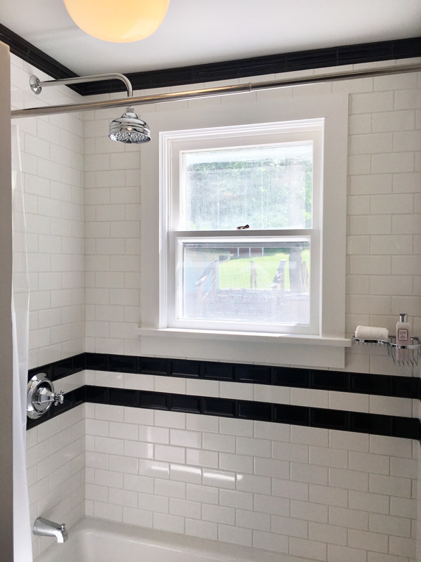 Interior Design New York Joe Cangelosi Black and White Bathroom Design Shower