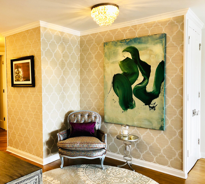 Interior Design New York Joe Cangelosi Modern Colorful Apartment NYC Foyer
