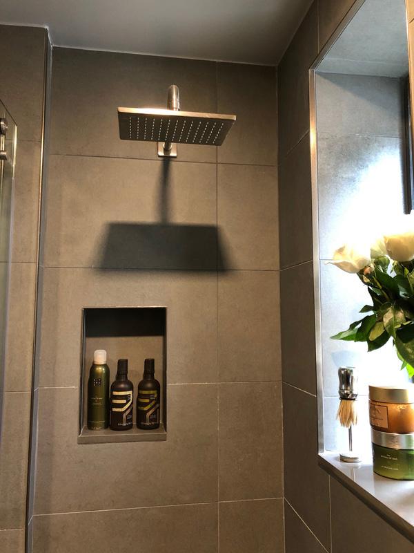 Interior Design New York Joe Cangelosi NYC Sexy Masculine Bathroom Shower